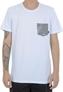 Camiseta Quiksilver Pocket Flower - Masculino
