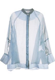 Jil Sander Blusa Translúcida - Azul