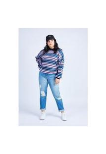 Calça Mom Jeans Azul Escura Gang Feminina