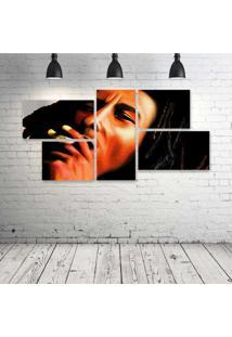 Quadro Decorativo - Art-Bob-Marley - Composto De 5 Quadros