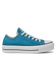Tênis Converse All Star Lift Plataforma Azul Acido-Ct09630016