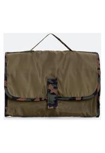 Nécessaire Com Divisórias Estampa Camuflagem | Accessories | Verde | U
