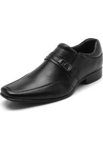 Sapato Social Couro Rafarillo Texturizado Preto