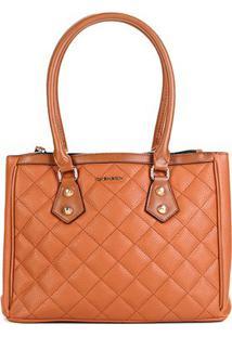 581b2a67e ... Bolsa Chenson Shopper Matelassê Feminina - Feminino-Caramelo