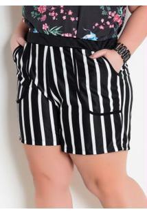 a69aaf510d0c Short Listras Plus Size feminino | Shoelover