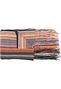 Missoni Cachecol De Lã Com Listras - Preto