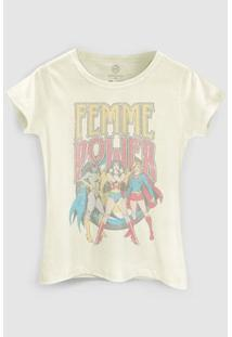 Camiseta Dc Comics Power Girls Bandup! - Feminino-Areia