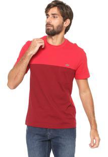 Camiseta Lacoste Reta Fit Vermelha