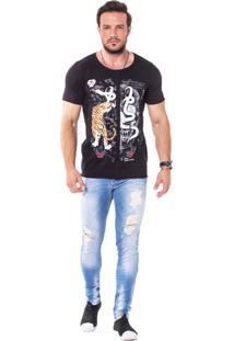 Camiseta Wolke Recorte Frontal Old Snake