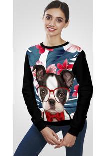 Blusa Moletom Ramavi Flanelado Dog Colorido Com Bolso