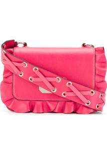 Red Valentino Bolsa Transversal 'Rock' Com Babados - Rosa