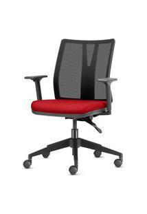 Cadeira Addit Assento Crepe Vinho Com Base Piramidal Em Nylon - 54108 Vinho