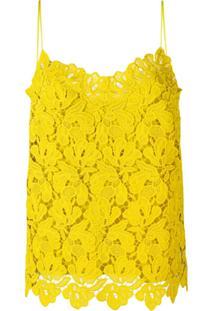 Ermanno Scervino Blusa Com Renda - Amarelo