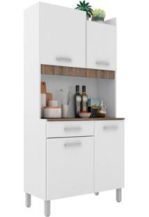 Cozinha Compacta Malaga 4 Pt 1 Gv Branca