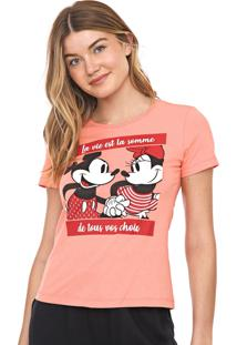 Blusa Cativa Disney Mickey E Minnie Rosa