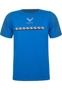 Camiseta Chevrolet Fan Store Winner Corvette Azul