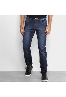 Calça Jeans Skinny Rock Blue Masculina - Masculino-Azul Escuro