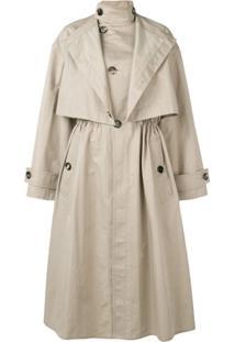Bottega Veneta Trench Coat Oversized - Marrom