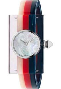 c7cee13387d ... Relógio Gucci Feminino Borracha Azul Vermelha E Branca - Ya143523
