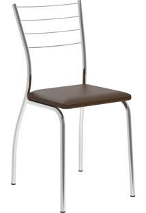 Kit 2 Cadeiras 1700 Napa Móveis Carraro Marrom