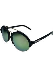 Óculos De Sol Feminino Otto Redondo - Feminino-Preto