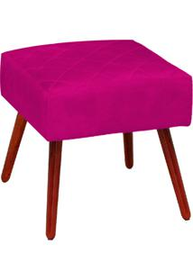 Puff Decorativo Silmara Suede Pink Pés Palito - D'Rossi
