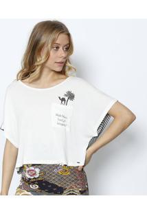 Camiseta Com Listras & Bolso- Off White & Pretalez A Lez