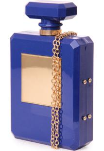 Clutch Real Arte Perfume Azul