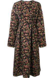08Sircus Floral Jacquard Midi Dress - Estampado