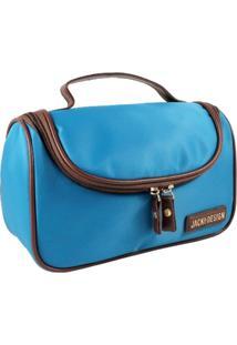 Necessaire Com Gancho Lisa Jacki Design Essencial I Azul