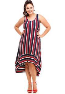 71fae1f99 R$ 169,90. Zattini Vestido Melinde Plus Size Mullet Listrado - Feminino- Vermelho
