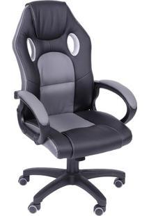 Cadeira Office Gamer- Cinza & Preta- 117X60X51Cmor Design
