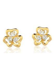 Brinco Le Diamond Flor Dourado