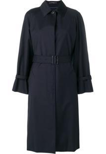 Paul Smith Trench Coat Com Cinto - Azul