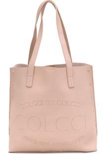 Bolsa Sacola Colcci Tachas Rosa