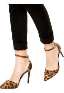 Scarpin Dafiti Shoes Folk Onça