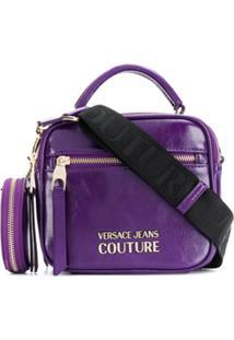 Versace Jeans Couture Bolsa Tote Com Placa De Logo - Roxo