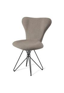 Cadeira Jacobsen Series 7 Cinza Com Base Estrela Preta - 49620 Cinza