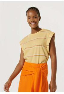 Blusa Feminina Listrada Muscle Tee Amarelo