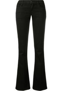 J Brand Calça Jeans Bootcut Cintura Baixa - Preto