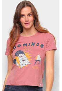 Camiseta T-Shirt Cantão Babylook Domingo Feminina - Feminino