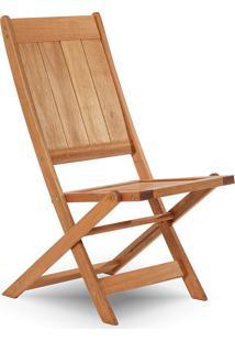 Cadeira Dobrável Gourmet De Madeira Para Piscinas Sem Braços Acqualung+ Stain Jatobá