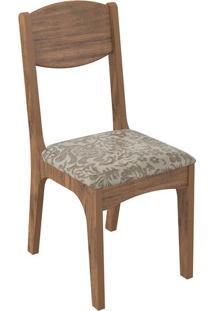 Cadeira Ca12 Veludo Milano Floral Nobre Fosco
