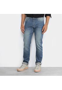 Calça Jeans Slim Foxton Fit Stone Masculina - Masculino-Jeans
