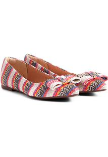 Sapatilha Shoestock Laço Feminina - Feminino-Laranja