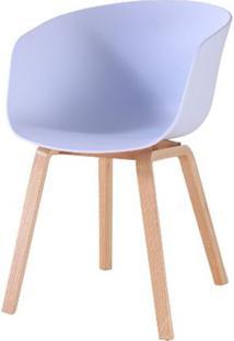 Cadeira Com Bracos Dino Branca Pes Madeira - 50060 - Sun House