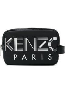 Kenzo Ñecessaire Com Estampa De Logo - Preto