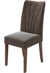Cadeira Apogeu Velvet Chocolate Imbuia Naturale
