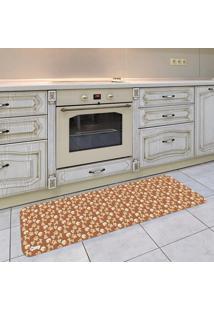 Tapete De Cozinha Mdecore Natal Marrom 40X120Cm