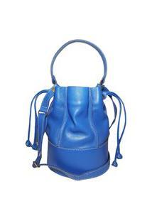 Bolsa Pequena De Couro - Ref 305 Azul Royal